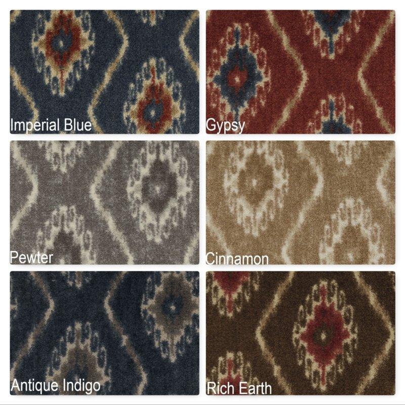 Milliken Silk Road Indoor Ikat Pattern Area Rug Collection