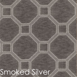 Milliken Delicate Frame Indoor Octagon Pattern Area Rug Collection Smoked SIlver
