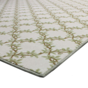 Organic Leaf Pattern Indoor Area Rug Collection Corner