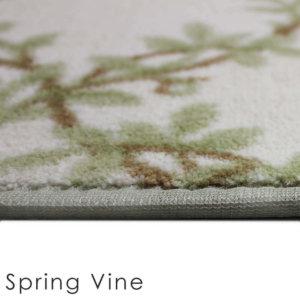 Organic Leaf Pattern Indoor Area Rug Collection Side