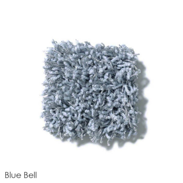 Uptown Girl Indoor Shag Carpet Area Rug Collection Blue Bell