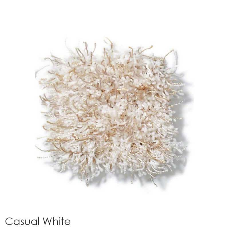 Tuftex Swag 75 oz Super Thick Shag Indoor Area Rug Collection Casual White