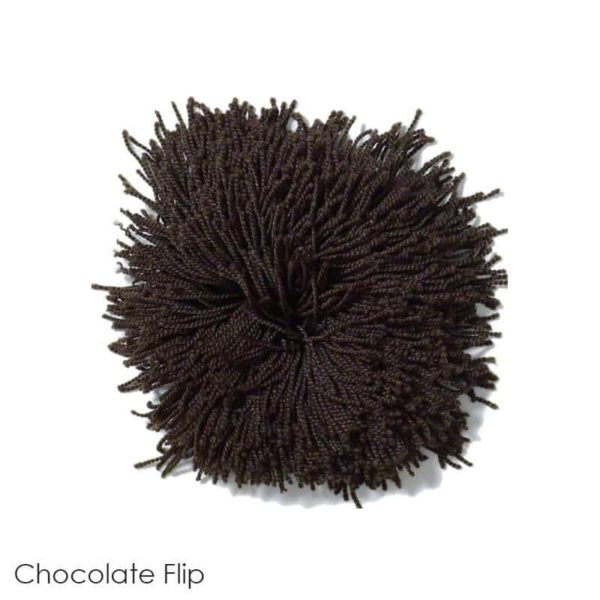 Tuftex Celeb 100oz Super Thick Shag Indoor Area Rug Chocolate Flip