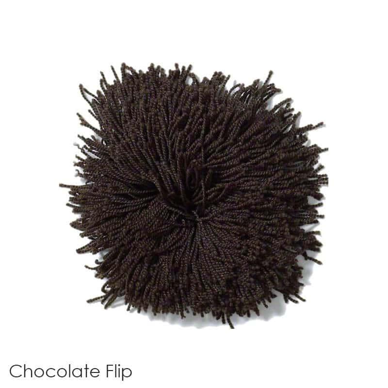 Tuftex Celeb 100oz Super Thick Shag Indoor Area Rug Chocolate Flip