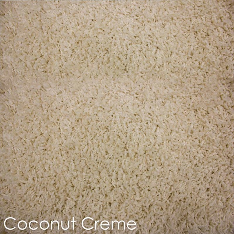 Kane Carpet Candy Shag Ultra Soft Indoor Area Rug Collection Coconut Creme