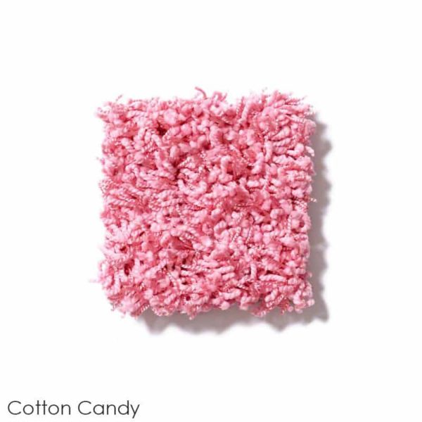 Uptown Girl Indoor Shag Carpet Area Rug Collection Cotton Candy