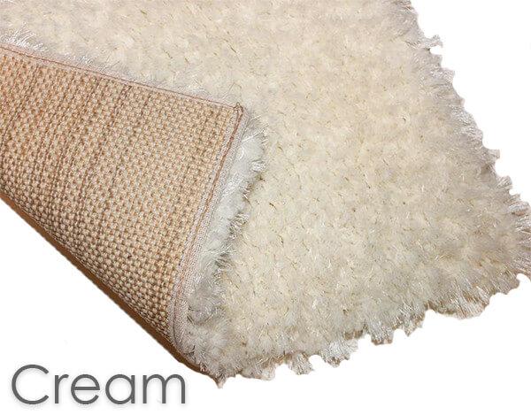 Kane Carpet Super Nova Ultra Soft Area Rug Shagtacular Collection Cream