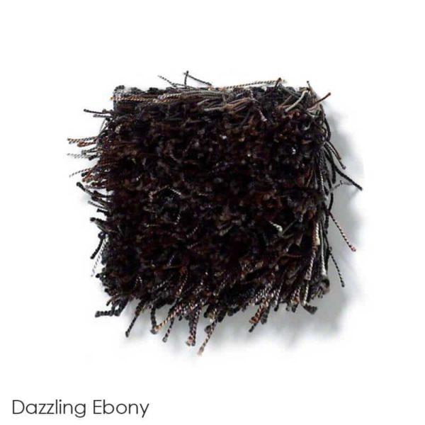 Tuftex Swag 75 oz Super Thick Shag Indoor Area Rug Collection Dazzling Ebony