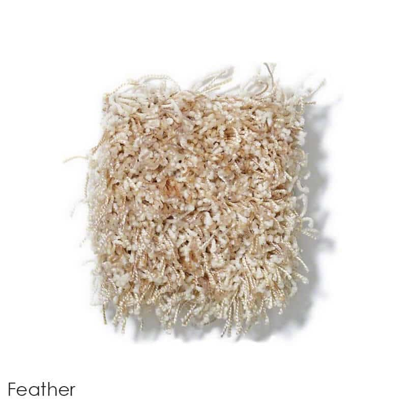 Tuftex Swag 75 oz Super Thick Shag Indoor Area Rug Collection Feather