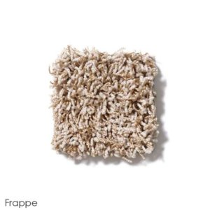 Uptown Girl Indoor Shag Carpet Area Rug Collection Frappe
