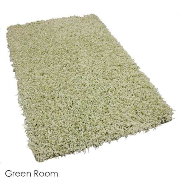 Tuftex Showbiz 1/2 Thick Shag Indoor Area Rug Collection Green Room