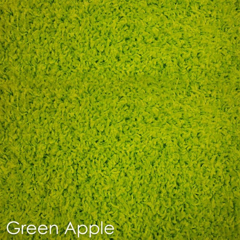 Kane Carpet Candy Shag Ultra Soft Indoor Area Rug Collection Green Apple