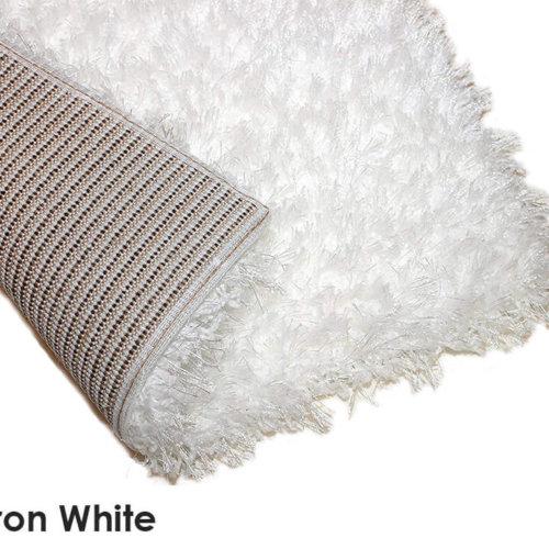 Kane Carpet Tempera Shag Ultra Soft Area Rug Shagtacular Collection Iron White Corner