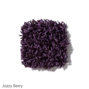 Uptown Girl Indoor Shag Carpet Area Rug Collection Jazzy Berry