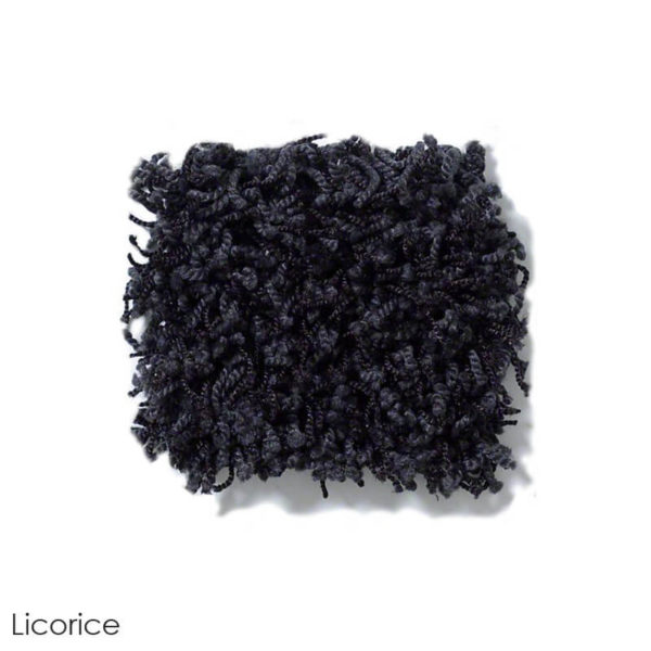 Uptown Girl Indoor Shag Carpet Area Rug Collection Licorice