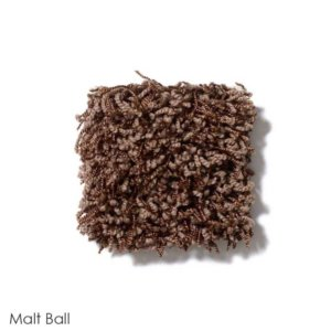 Uptown Girl Indoor Shag Carpet Area Rug Collection Malt Ball