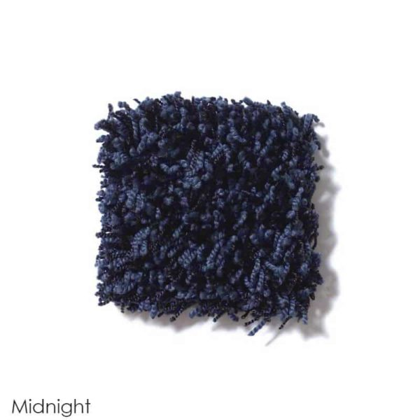 Uptown Girl Indoor Shag Carpet Area Rug Collection Midnight