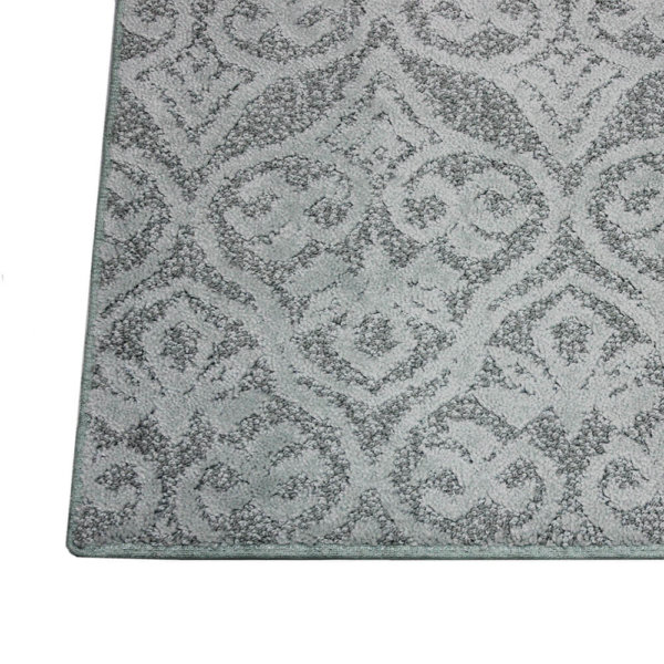 Modern Amenities Pattern Repeat Indoor Area Rug Collection Beachglass top corner