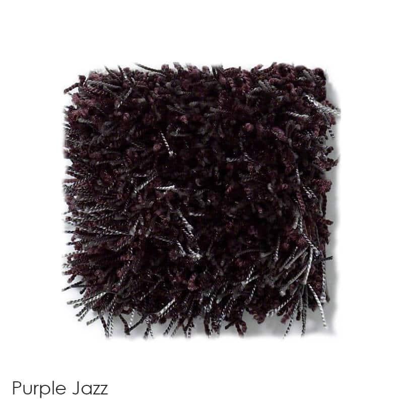 Tuftex Swag 75 oz Super Thick Shag Indoor Area Rug Collection Purple jazz