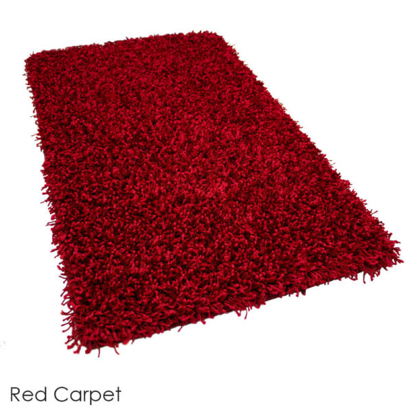Tuftex Showbiz 1/2 Thick Shag Indoor Area Rug Collection Red Carpet
