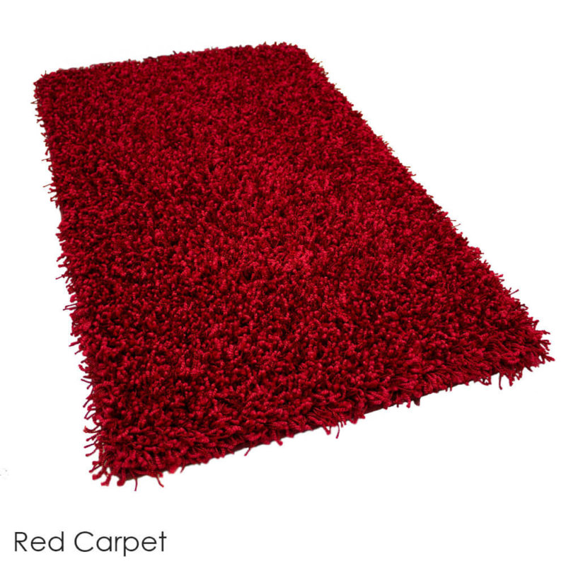 Tuftex Showbiz 1/2 Thick Shag Indoor Area Rug Collection Red Carpet