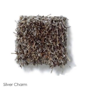 Tuftex Swag 75 oz Super Thick Shag Indoor Area Rug Collection Silver Charm