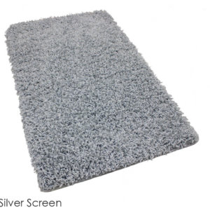 Tuftex Showbiz 1/2 Thick Shag Indoor Area Rug Collection Silver Screen