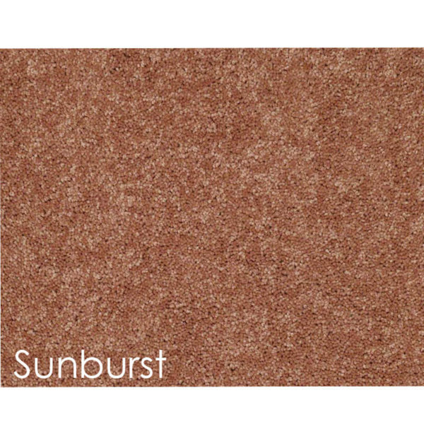 "Dyersburg Cut Pile Indoor Area Rug Collection | 1/2"" Thick 30 oz. Durable Cut Pile Indoor Area Rug Multiple Colors Sunburst"