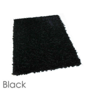 Kane Carpet Super Nova Ultra Soft Area Rug Shagtacular Collection Black