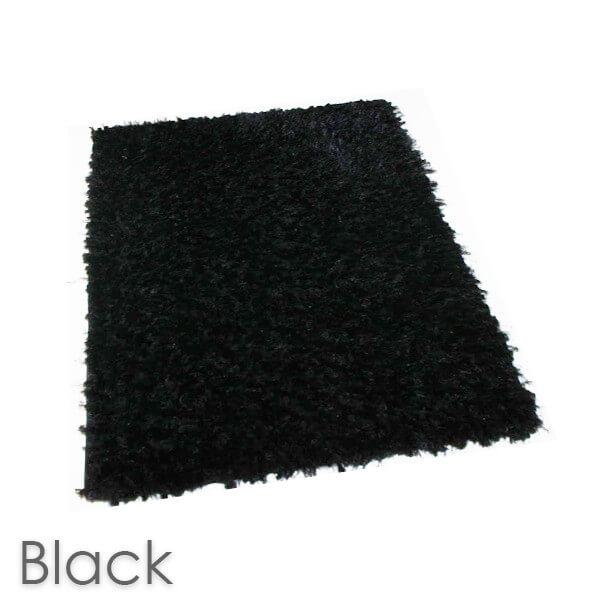 Kane Carpet Super Nova Ultra Soft Area Rug Shagtacular Collection Black