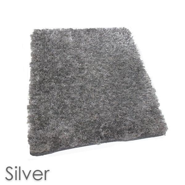 Kane Carpet Super Nova Ultra Soft Area Rug Shagtacular Collection Silver