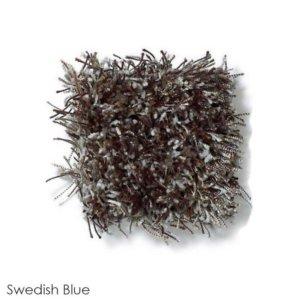 Tuftex Swag 75 oz Super Thick Shag Indoor Area Rug Collection Swedish Blue