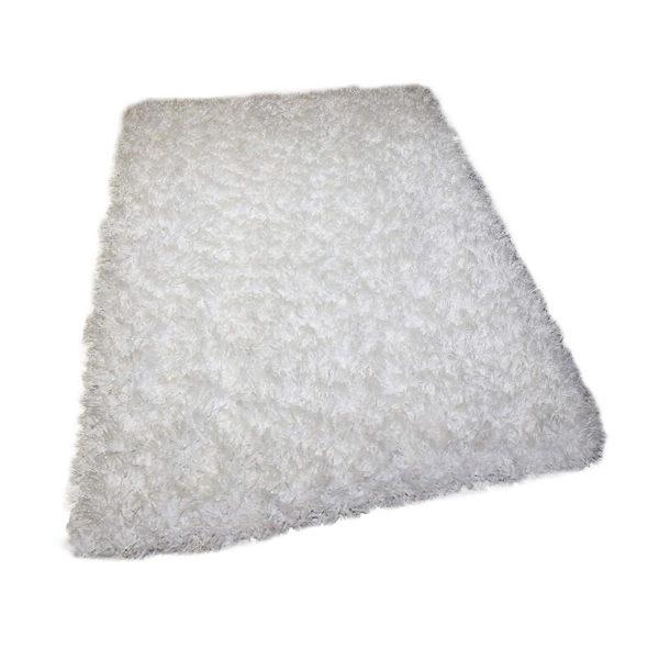 Kane Carpet Tempera Shag Ultra Soft Area Rug Shagtacular Collection Iron White