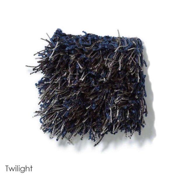 Tuftex Swag 75 oz Super Thick Shag Indoor Area Rug Collection Twilight