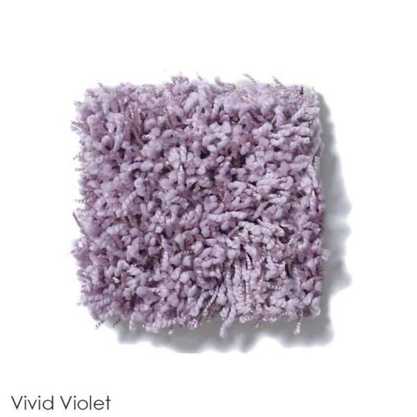 Uptown Girl Indoor Shag Carpet Area Rug Collection Vivid Violet
