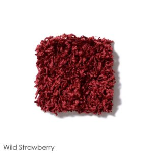 Uptown Girl Indoor Shag Carpet Area Rug Collection Wild Strawberry
