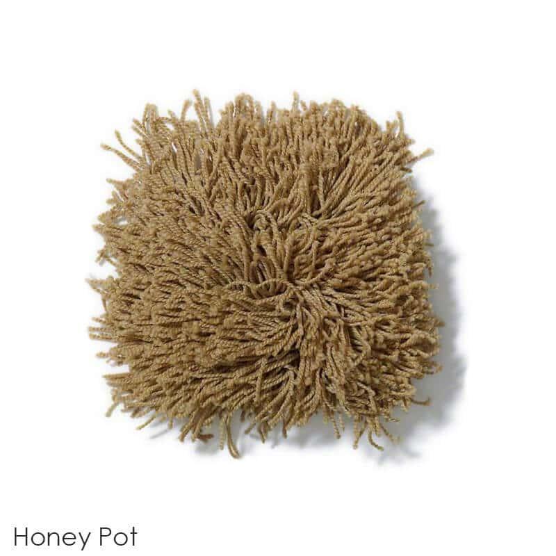 Tuftex Celeb 100oz Super Thick Shag Indoor Area Rug Honey Pot