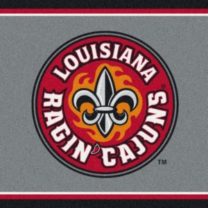 Louisiana Lafayette Ragin' Cajuns Area Rug