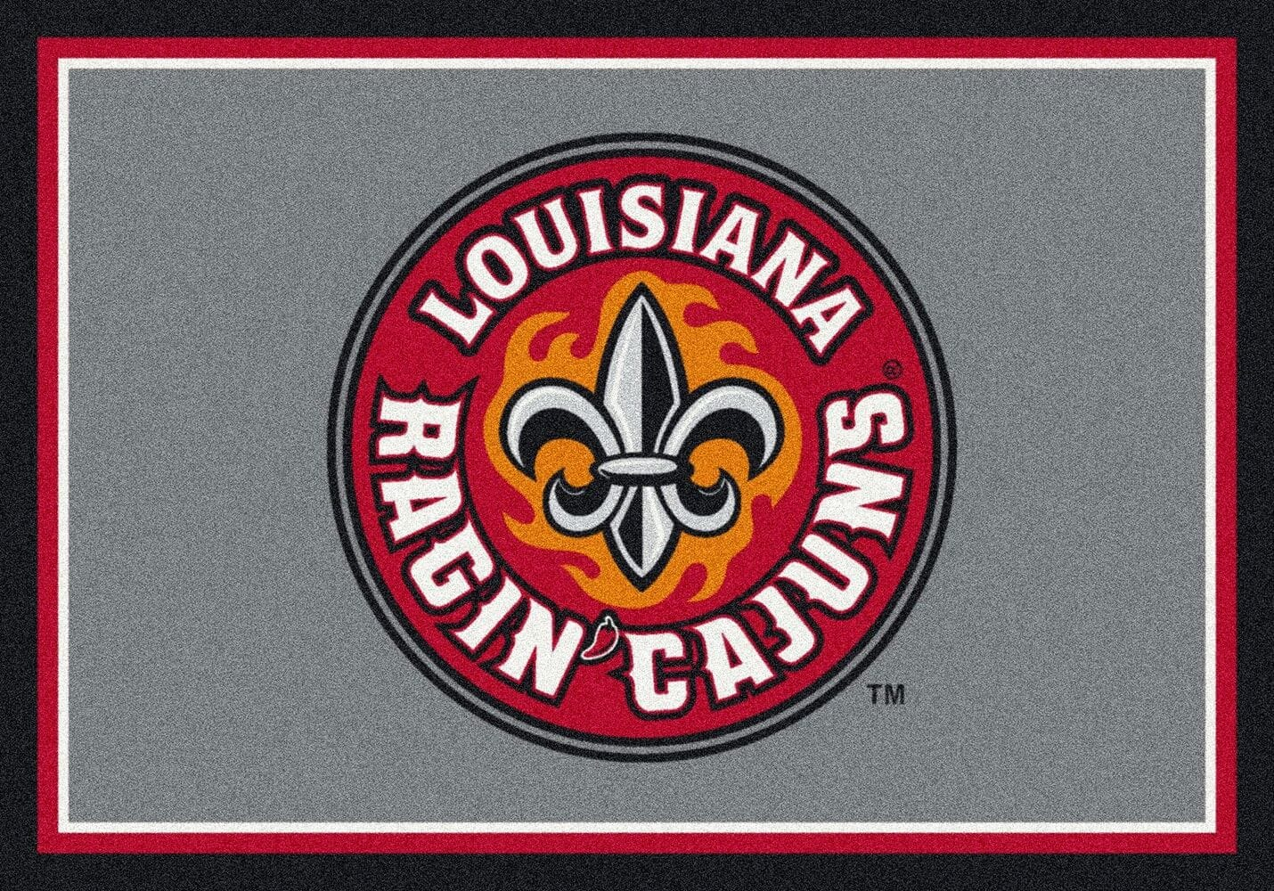 Louisiana Lafayette Ragin Cajuns Area Rug Ncaa Ragin