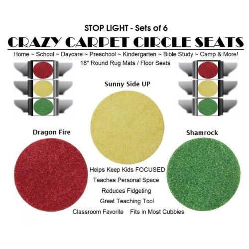 Children's Crazy Carpet Circle Seats STOP LIGHT Sets of 6
