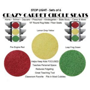 Children's Crazy Carpet Circle Seats STOP LIGHT