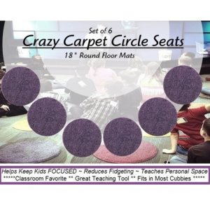 Children's Crazy Carpet Circle Seats Grape Jelly Purple Sets of 6
