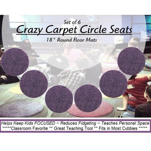 Children's Crazy Carpet Circle Seats Grape Jelly Purple Sets of 6