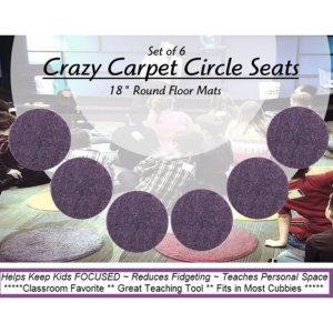 Children's Crazy Carpet Circle Seats Grape Jelly Purple
