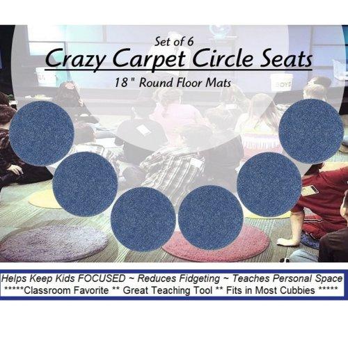 Children's Crazy Carpet Circle Seats Blue Vibe