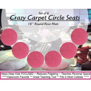 Children's Crazy Carpet Circle Seats Glamour Girl Pink Sets of 6