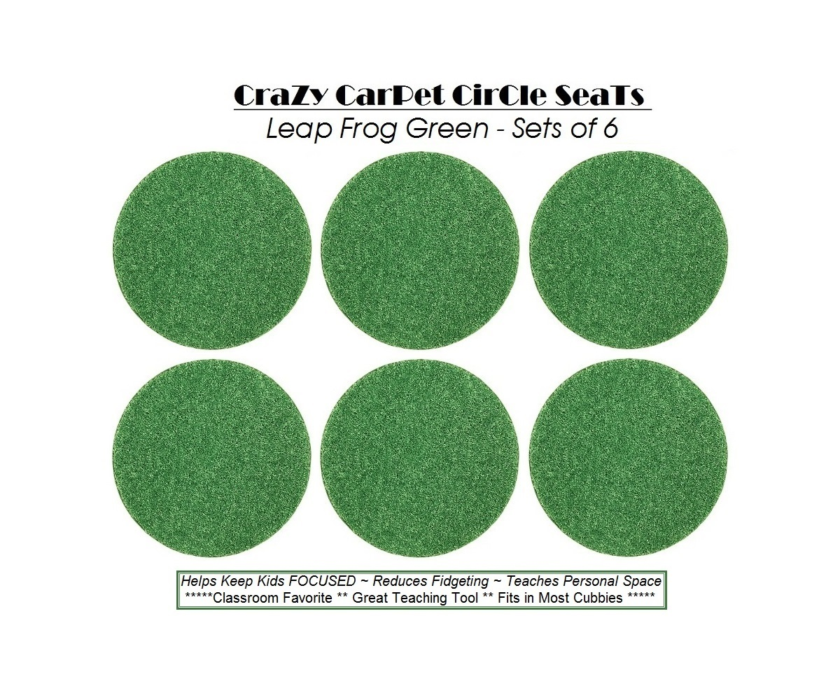 Children's Crazy Carpet Circle Seats Leap Frog Green