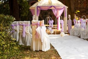 Outdoor wedding runner rug
