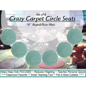 Children's Crazy Carpet Circle Seats Aqua Surf Set 6