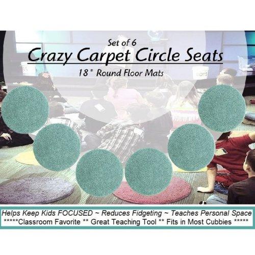 Children's Crazy Carpet Circle Seats Aqua Surf Set 6